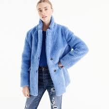 Jcrew teddy coat in plush