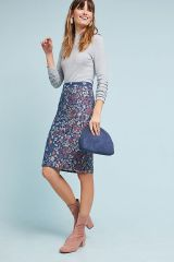 Floral Knit Pencil Skirt by Maeve